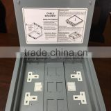 Electrical Floor Box/Floor Outlet Box/under floor service box with 13A SWITCHED SOCKET PLATES