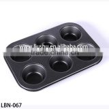 Bakeware high quality 6 six cup muffin teflon non-stick baking pan                                                                         Quality Choice