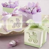 wedding favor box--Laser-Cut Baby Carriage Favor Boxes