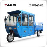 Dongguan Tailg 800w cheap electric passager and cargo tricycle three wheels electric motorcycle