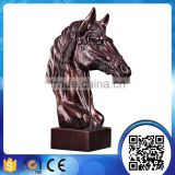 Wholesale Antique bronze resin horse sculpture ,horse head statue,horse head figurine for table decoration