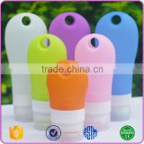 Portable Silicone Travel Mini Bottle Silicone Shampoo Bottle with Carabiner
