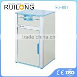 High quality bedside cabinet of hospital bed for ward metal chinese bedside cabinets with 2 bedside drawers