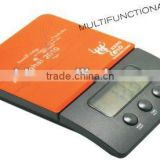Kitchen scale with digital timer and clock