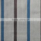 New custom made chenille blue stripe yarn dyed curtain fabric for fitting room