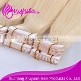 2016 top sale Tape weft skin weft human hair extensions virgin remy human hair