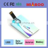 High Speed usb memory card, Alibaba Hot selling usb flash card, Promotional Custom Logo blank credit card usb