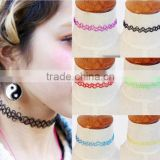 Wholesale vintage black sexy stretch hippy henna plastic handmade tattoo choker necklace