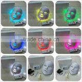 Skin Rejuvenation Therapy Photodynamics PDT New 7 Led Light Skin Therapy Colors LED Photon Facial Mask Blue 630nm