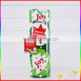 Custom christmas tree cardboard paper mailing tube with end caps hot sale christmas gift paper tube with cover
