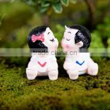 Happy Playing or kissing or Sleeping Fairy Baby DollHouse Decor Miniature Fairy Garden terrarium resin figurines musicians