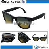 2016 CE&FDA cheaper foldable sun glasses with case adult size folding promotion sunglasses with display