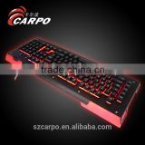 High end aluminum mechanical keyboard with ABS plastic material,colored keyboard,adjustable computer keyboard stand