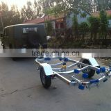 3600mm long single axle Galvanized steel boat trailer with roller