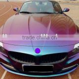 Guaranteed 100% High quality 1.52X30M(air free bubbles) Vehicle wrapping film chameleon color change vinyl sticker