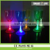 Liquid active LED champagne glass ;High leg glass LED cocktail glass ;Flash led Beer Glass