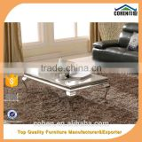 competitive price italy stone long stainless steel marble top coffee table