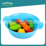 Kitchen Fruit Colander Round Plastic Strainer Vegetable Basket Strainer PP Plastic Bowl With Strainer