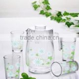Glassware Pitcher and Glass cup Set