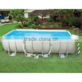 2016 UV Resistance New Metal Frame swimming Pool Above Ground Swim Pool Rectangular Above Ground Swimming Pool For Sale