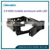 3.5' SATA/SAS HDD mobile rack hard disk enclosure with LED