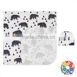 Cartoon Polar Bear Print Blanket Boutique Baby Muslin Blanket With Hat