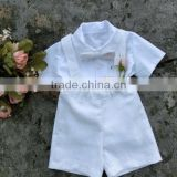 2017 new arrival Summer Children's Clothing Sets Wholesale Baby Clothes white shirt and shorts baby boy suits
