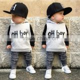 S33503W Baby Boy London clothing set Toddler T shirt Sport Tracksuit