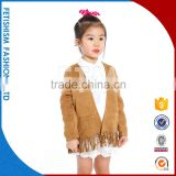New Cotton sweater kids fancy girls pattern baby coat