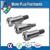 Made In Taiwan Hardened Steel Smooth Head Stainless Steel Shoulder Bolt