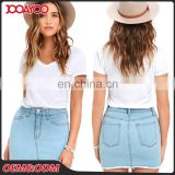 Wholesale Latest Korean Designer Tight Short Jean Skirt School Girl Denim Micro Mini Skirt