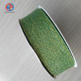 Wholesale gold/sliver metallic polyester glitter ribbon