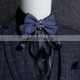 Aidocrystal Bow tie Fashion male bow ties for men married the groom color block decoration butterfly bowknot