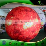 Inflatable 2 M Mars Planet with LED Light, Advertising Inflatable Tire Balloon, Floating Advertising Balloon for Sale