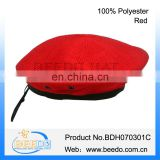 New design red military beret pattern for women