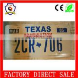 custom logo metal decorative car license plate for promotion HH-licence plate-65