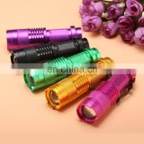 Mini UV LED Flashlight Torch 365nm Blacklight 395nm Violet Light Lamp Zoomable UV Flashlights