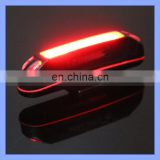 Red White Light USB Rechargeable COB LED Bike Tail Light with Handlebar Mount
