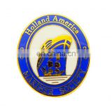 white and blue enamel holland america lapel pin