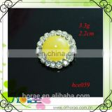 22mm Sewing Craft Rhinestone Button for Hair Bow Center,crystal wedding button