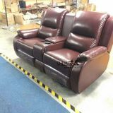 High quality leather home theater recliner sofa,power recliner private cinema seats