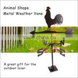 (564) Garden Roof Decorative Metal Iron Black Matt Rooster Weather Vane
