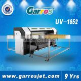 High precision high quality fast speed for wood glass ceramic tiles printing flatbed uv printer with LED lamp