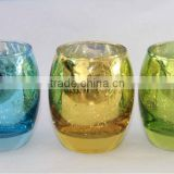 COLOR SPRAYING MERCURY GLASS CANDLE HOLDER,BULK GLASS VOTIVE CANDLE HOLDERS                                                                         Quality Choice