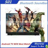 Android TV BOX Best Match S01 Bluetooth Soundbar For LCD TV Tablets And Smartphones Bluetooth V4.0 3Model Bluetooth Speaker
