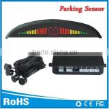 Hot selling Run freely Car parking sensor system with 3 digital color leds and 4 rader sensors