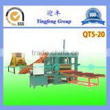 QT5-20 Color paver forming machine block bloqueras machine fly ash brick making machinery