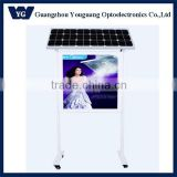 Energy saving outdoor attractive waterproof solar panel stand display bus station light box