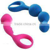 Silicone g-spot vibrating silicone anal plug