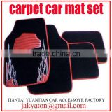 carpet car floor mat,car mat with pvc,cheap and non slip car universal mats car accessories